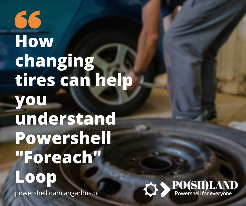 How changing tires can help you understand Powershell Foreach Loop