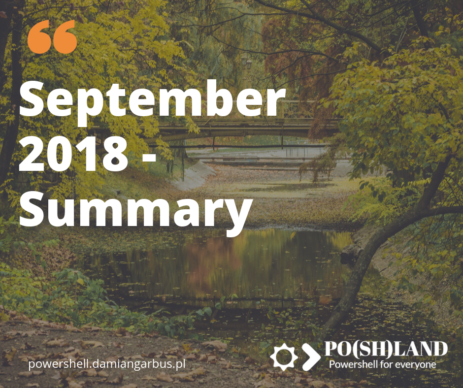 September 2018 – Summary