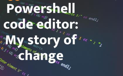 powershell code editor