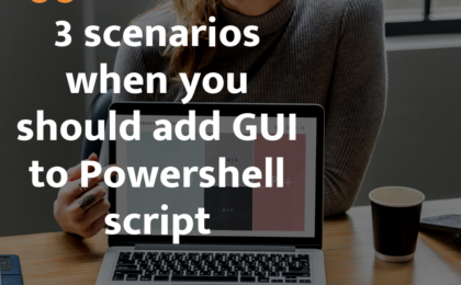 gui to Powershell script