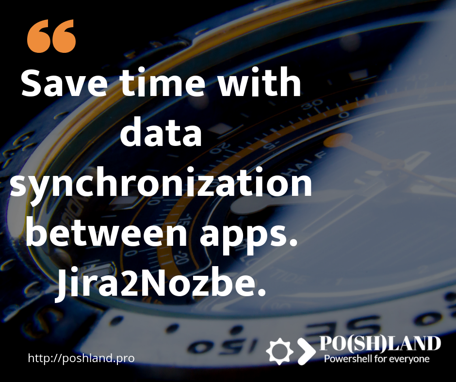 Save time with data synchronization between apps. Jira2Nozbe.