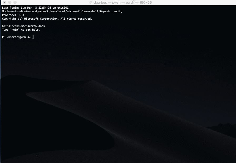 Powershell Core on macOS