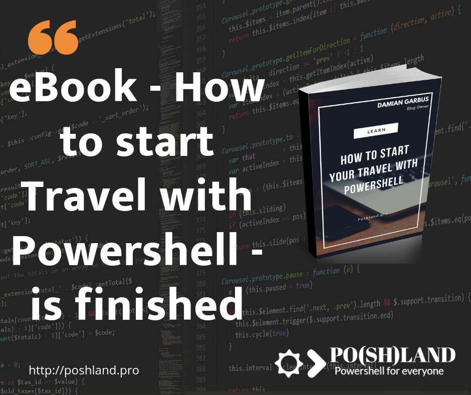 eBook – How to start Travel with Powershell – is finished