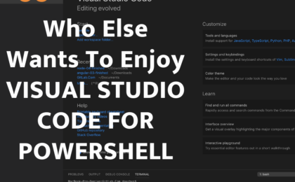 Visual Studio code for Powershell