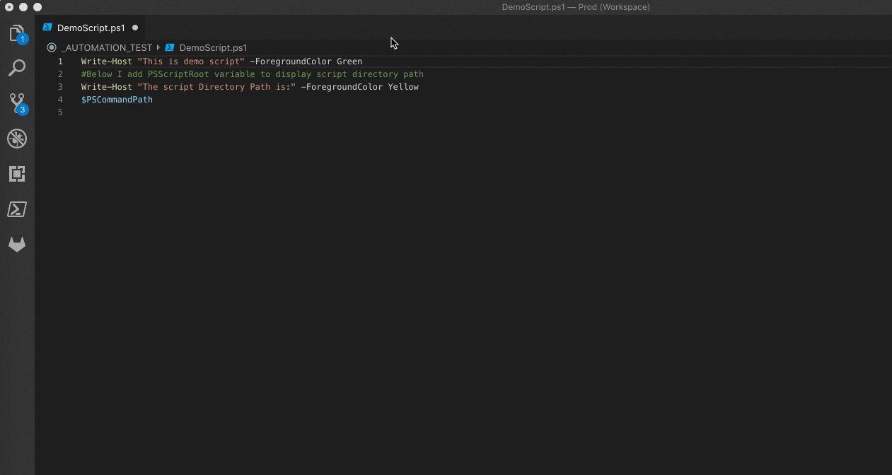 Run selected Powershell code